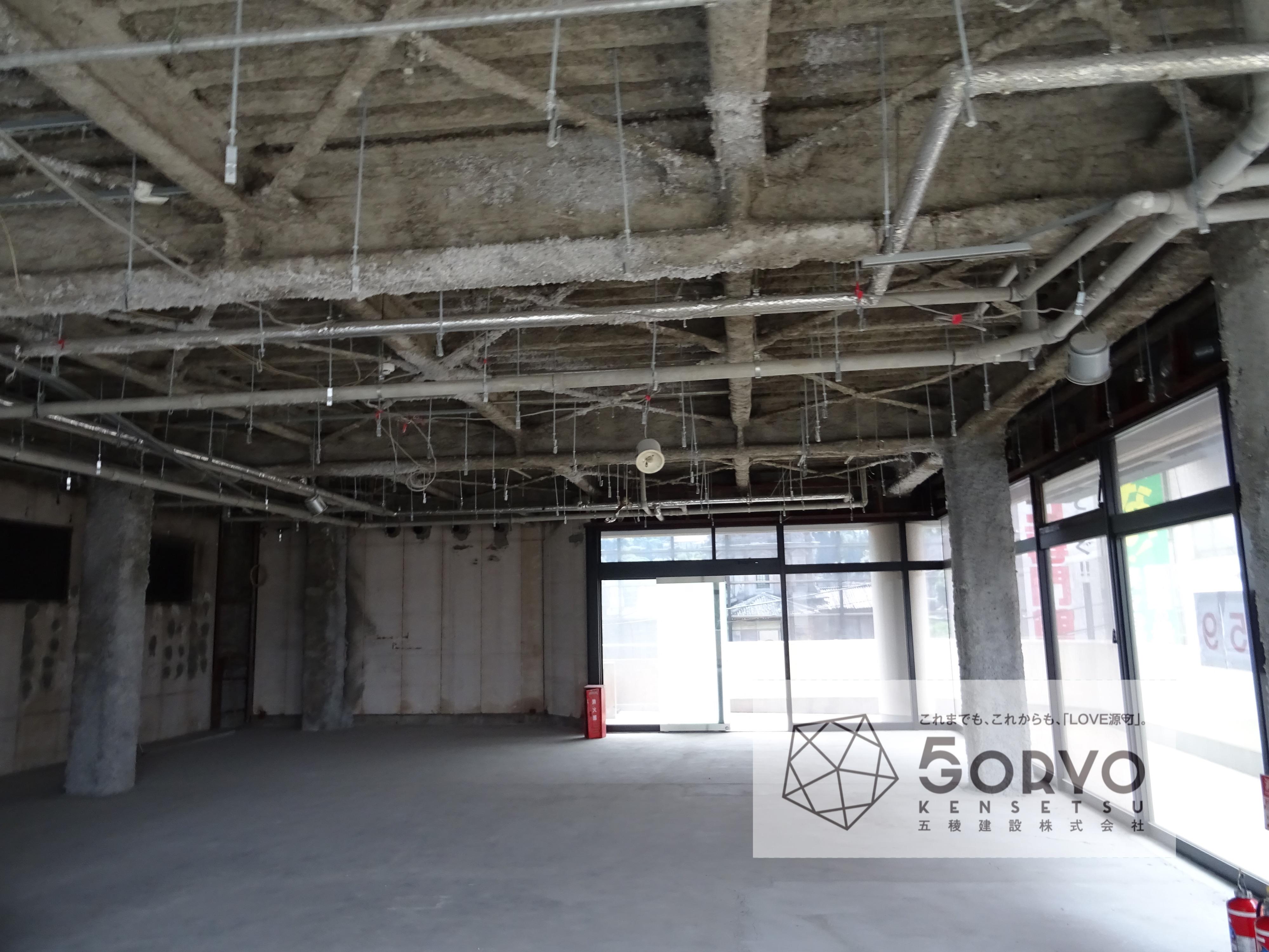千葉市稲毛区 T保育園・ビル内の2階部分/保育室フロア内装工事:施工前
