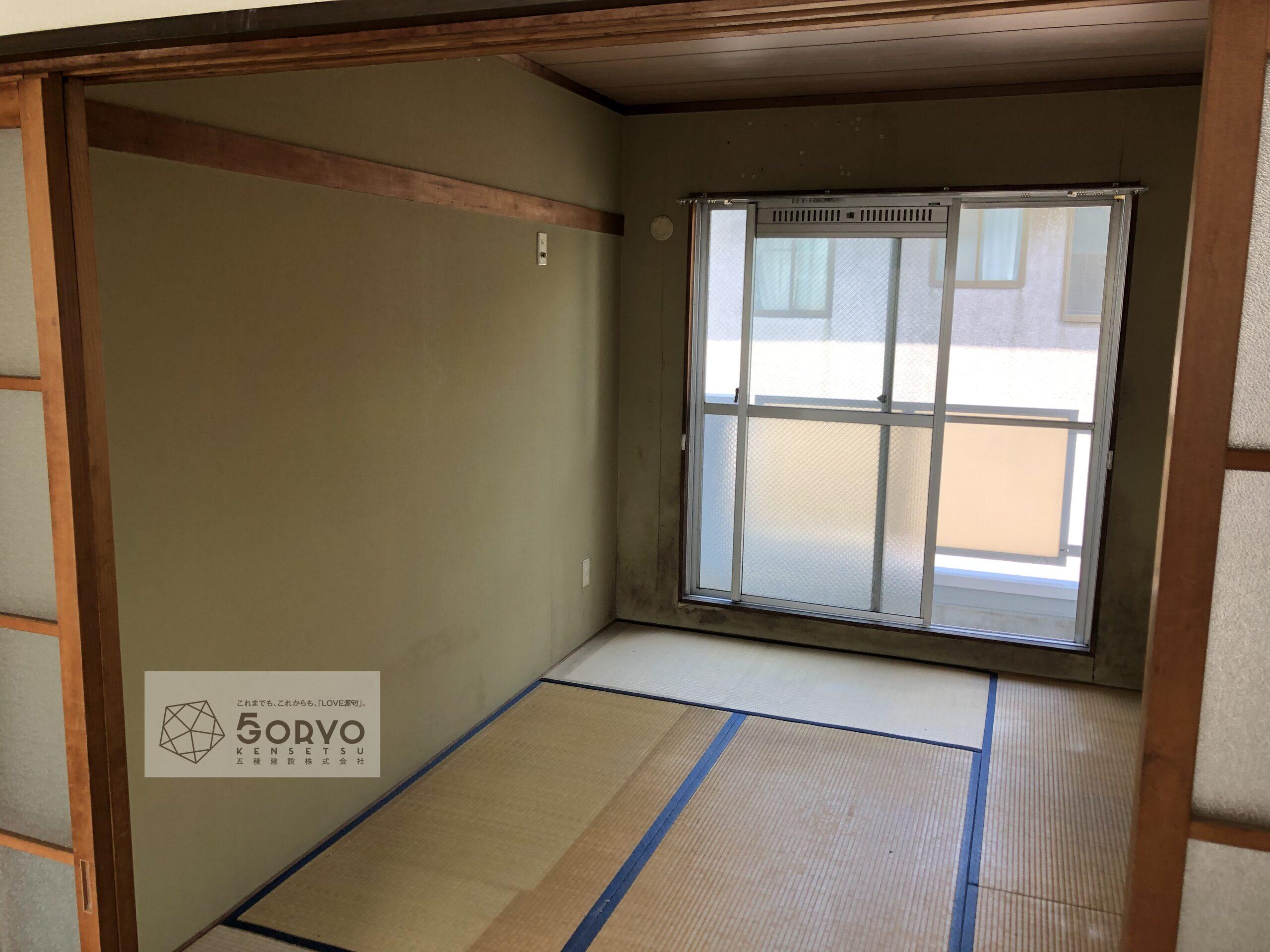 千葉市若葉区 和室から洋室へリノベーション:施工前