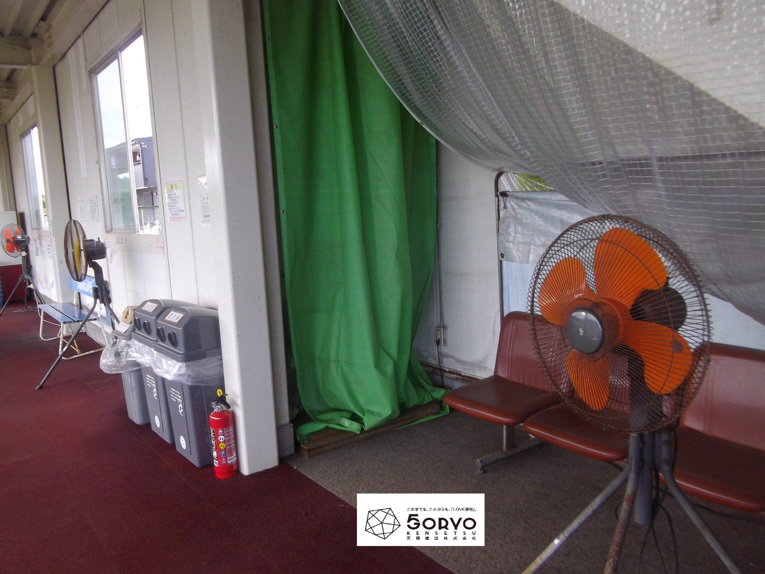 千葉県四街道市 ゴルフ場の喫煙所設置工事:施工前