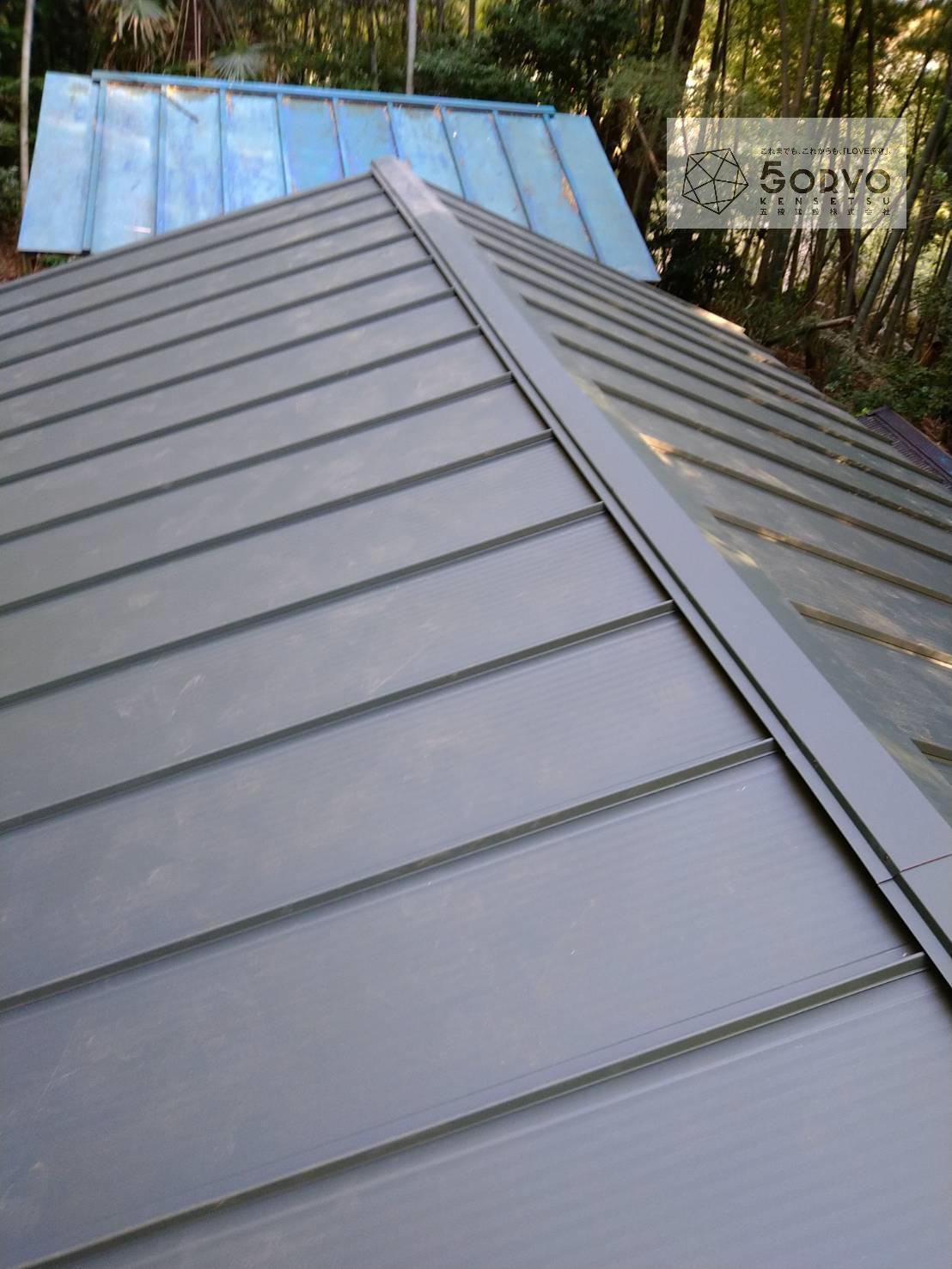 千葉市稲毛区 町の小さな神社の屋根葺き替え補修工事:施工後