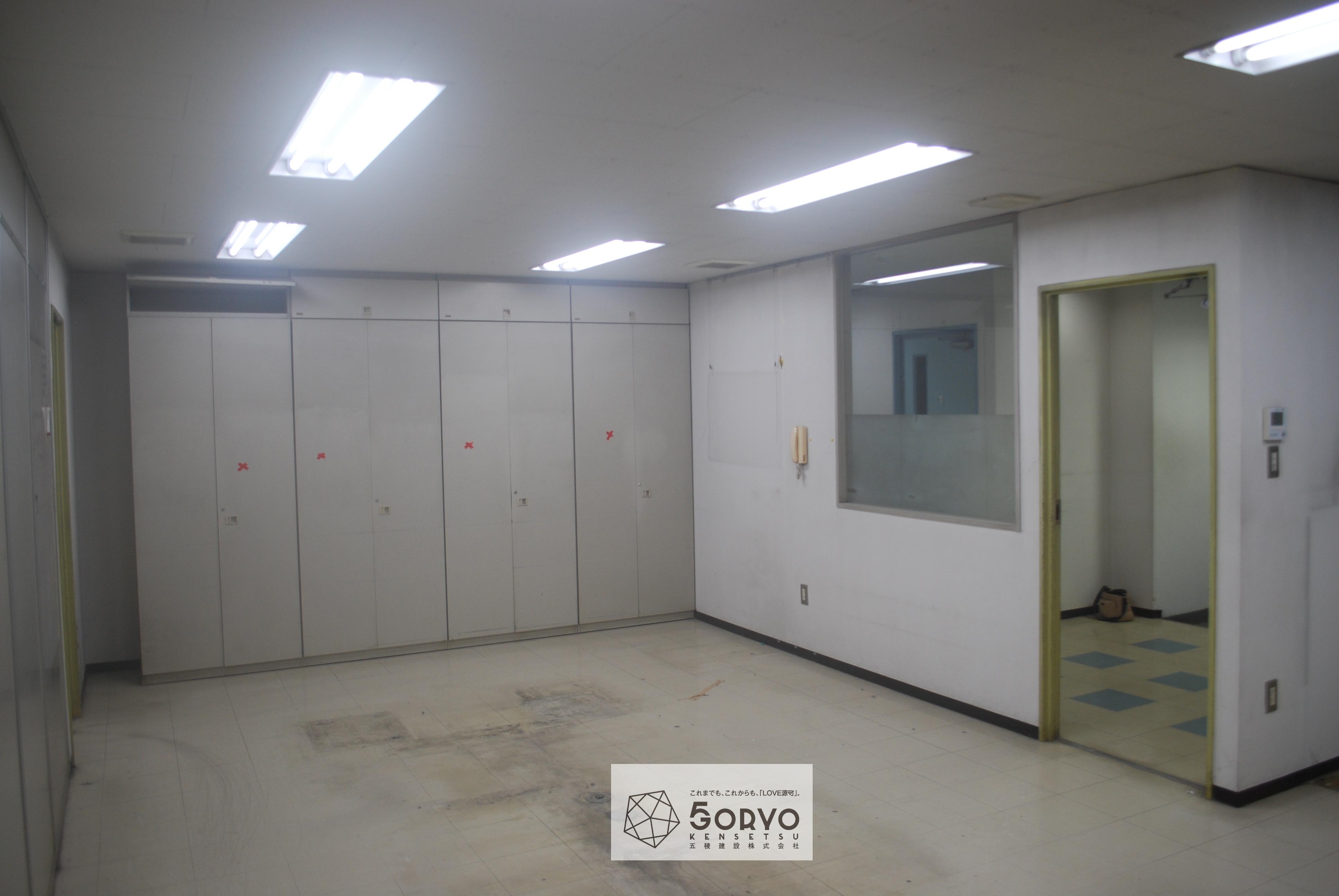 千葉市美浜区ビルを保育園へリノベーション、遊戯室part1:施工前