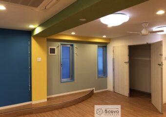 千葉市美浜区ビルを保育園へリノベーション、遊戯室part2